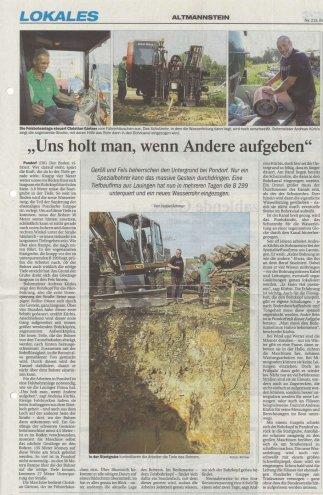 Pondorf: Verlegung einer Wasserleitung